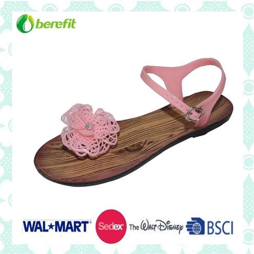 Beautiful Design, Delicate Decoration, Fashion PVC Sandals