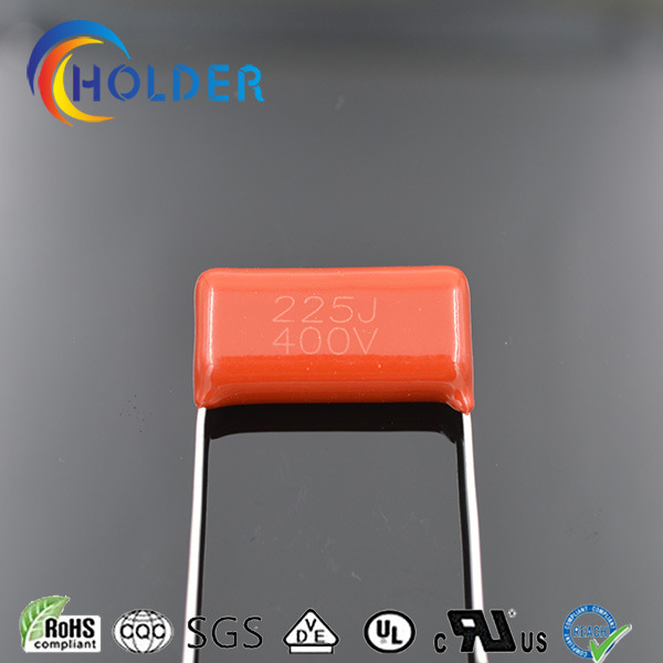 Metallized Polyester Capacitor (Cl21 225j/400V P=25) Electronic Components Red Color