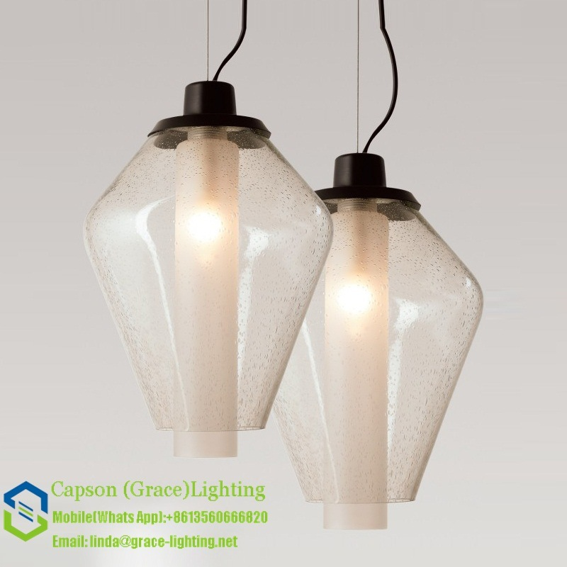 Hot Sale Bubble Glass Pendant Lamp Gd-5055-1b