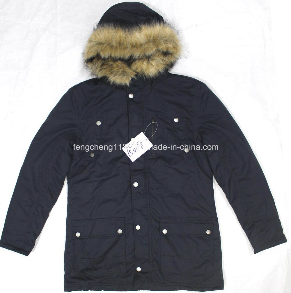 Men Outdoor Winter Padding Jacket/Coat with Fur Hoody