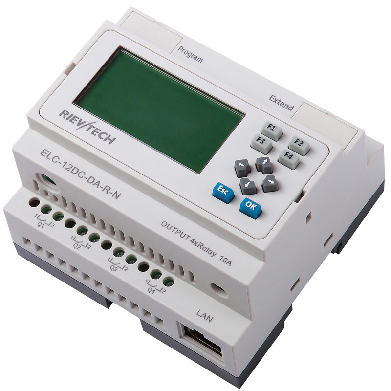 Ethernet PLC, Ideal Solution for Remote Control (ELC-12DC-DA-R-N-HMI)