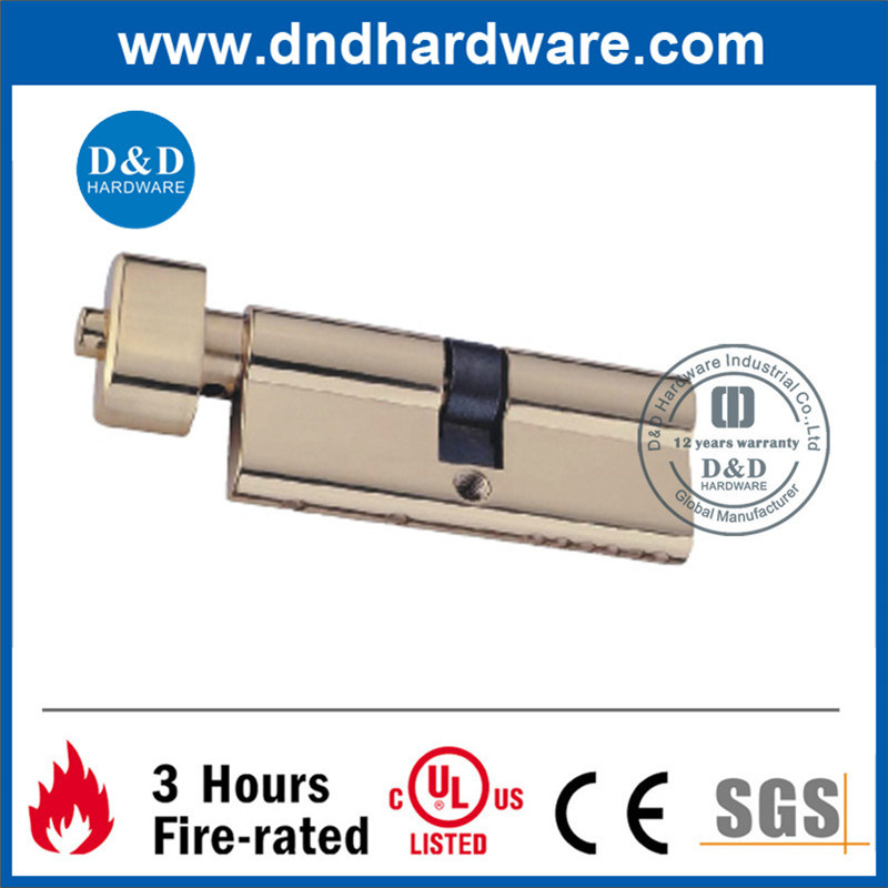 Door Accessories Brass Single Cylinder Lock with UL Listed (DDML011)