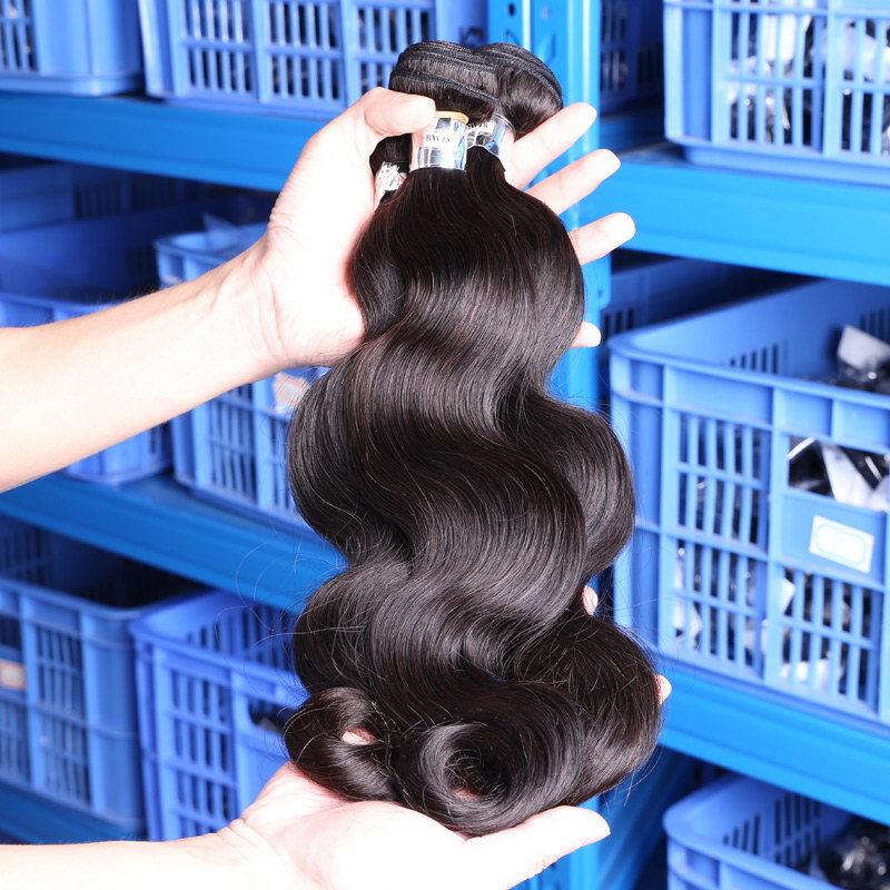 Chinese Virgin Hair Body Wave Natural Color Natural Human Hair