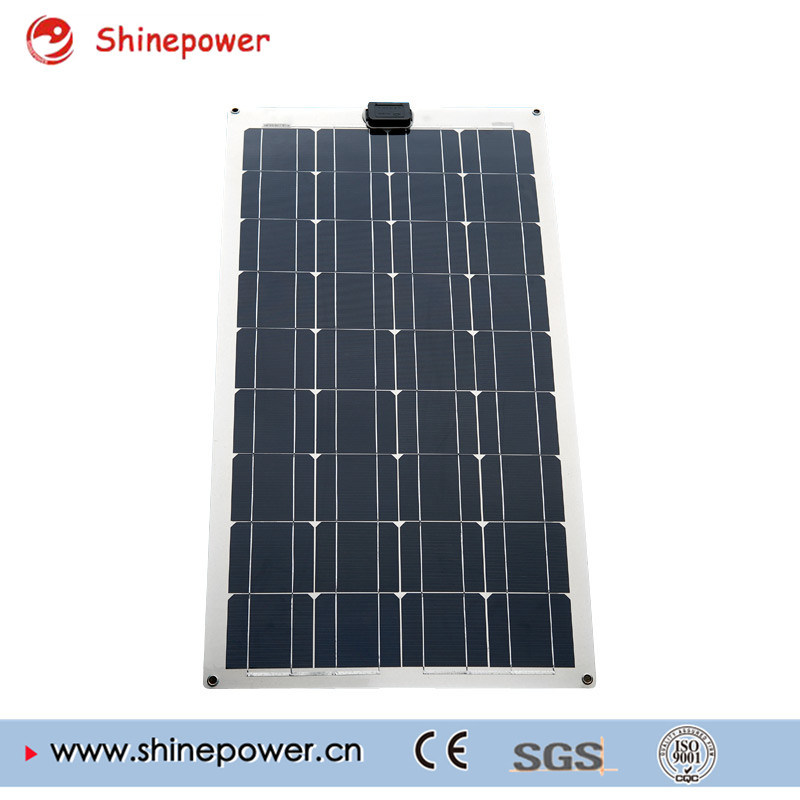 100W PV Semi Flexible Solar Panel for Grid Solar System