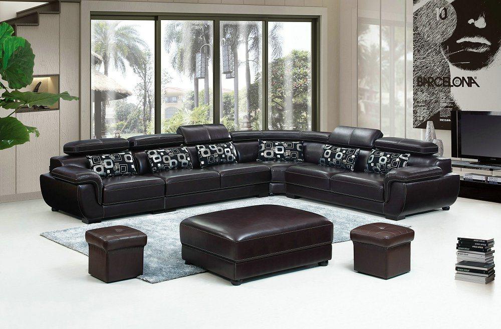China LED Light Sofa Wooden Sofa Set Designs L Shape Couches ...
