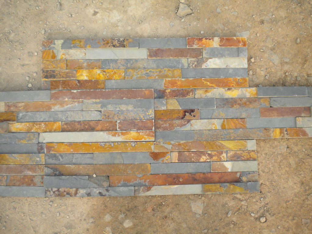 Natural Rusty Slate for Wall and Paver 60X15cm