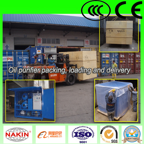 Vacuum Oil Purifying, Oil Dehydration Machine Applied in Transformer Oil, Oil Purifier