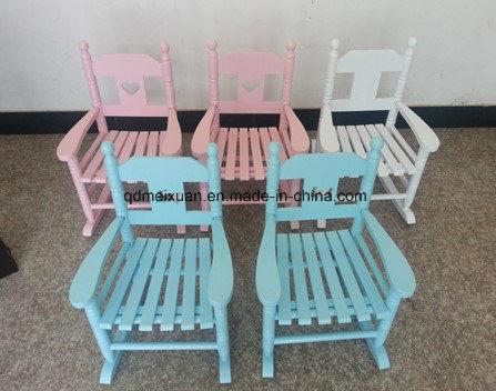 Wooden Child Rocking Chair Rocking Chair Wooden Small Furniture Leisure Furniture (M-X3577)