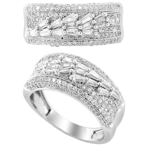 Heart Cubic Zircon Silver Rings in 925 Sterling Silver Jewelry