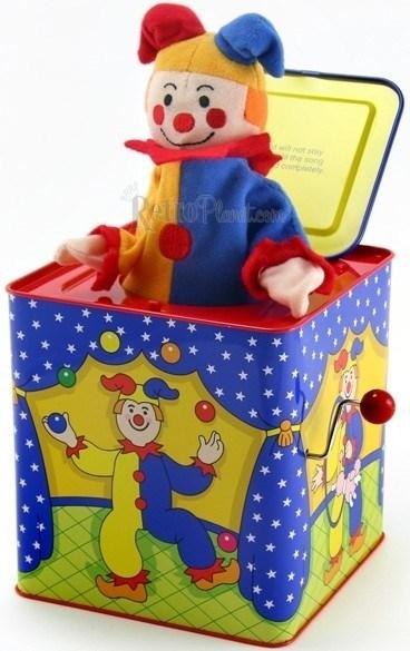 Customized Lovely Cartoon Plush Jack in The Box Music Tin Box