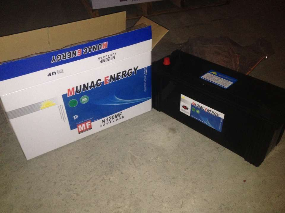 N120mf 12V120ah Maintenance Freelead Acid Car Storage Battery