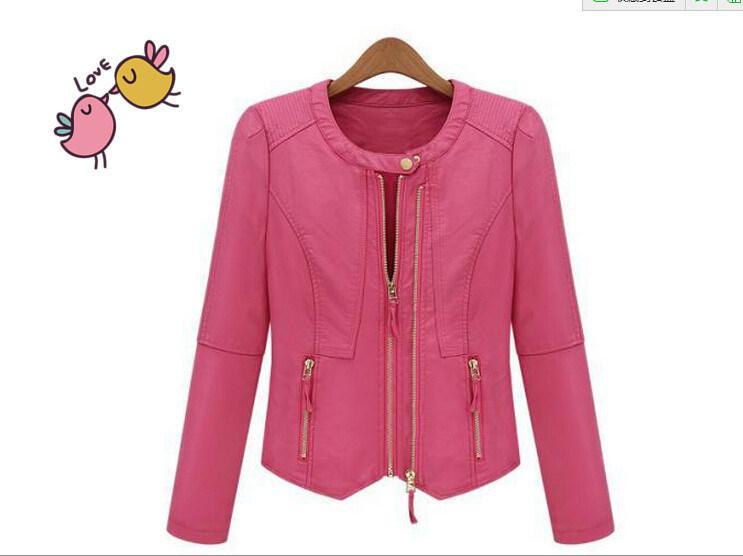 Ladies Fashion Leather PU Jacket Garments