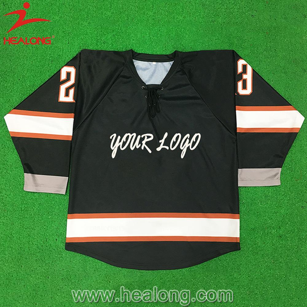 Healong Hot Sale Sportswear Sublimation Hockey Jersey and Hockey Socks