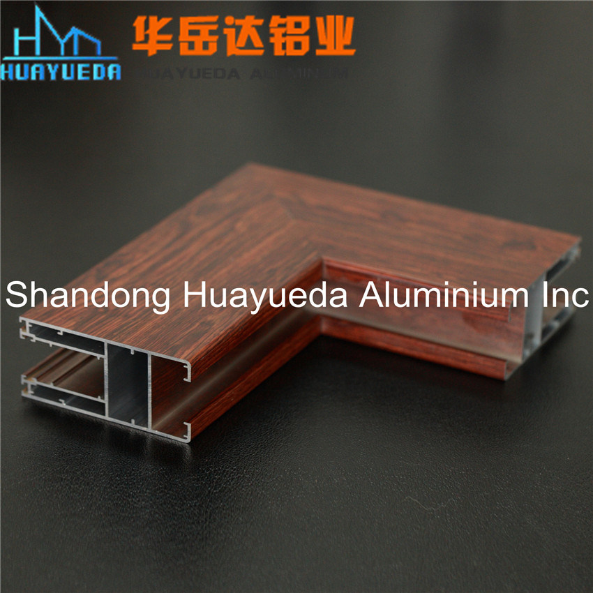 Windows and Doors Aluminium of Wooden Grain Transfer