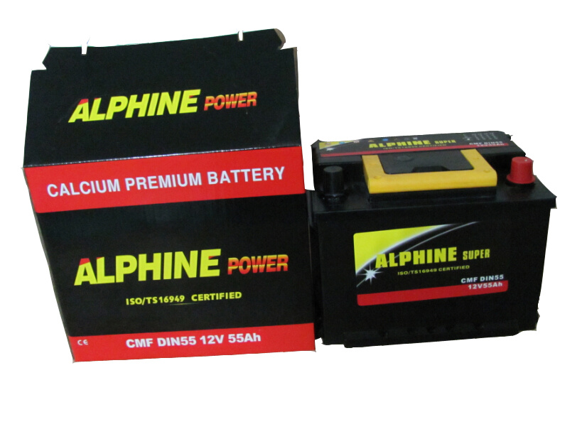 Mf Car Battery/ DIN55 Mf 12V55ah Automotive Battery
