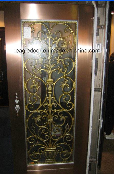 Gloden Stainless Steel Door with Glazing Trim in SUS304 (ES-9077)