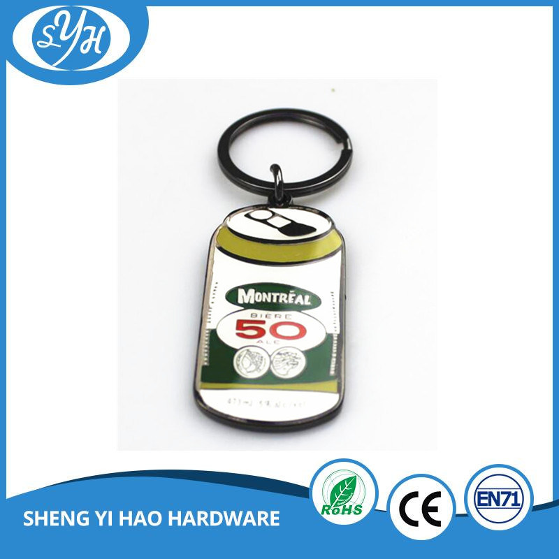 Fancy Customized Zinc Alloy Enamel Keychain with Epoxy