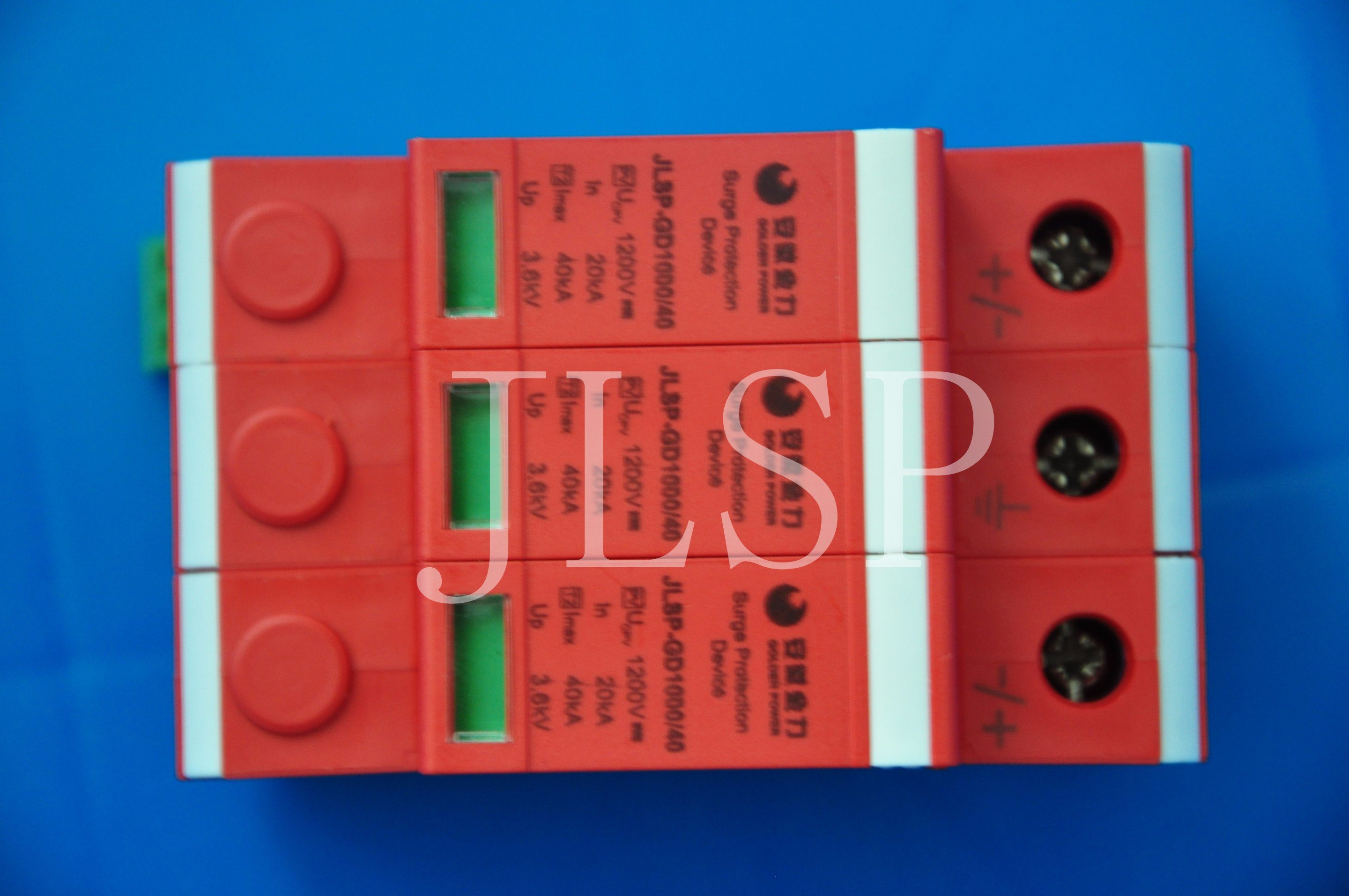 PV Application 20-40ka Solar 3p DC 1000V, Jlsp-Gd1000-40, SPD, Surge Protector, 17002
