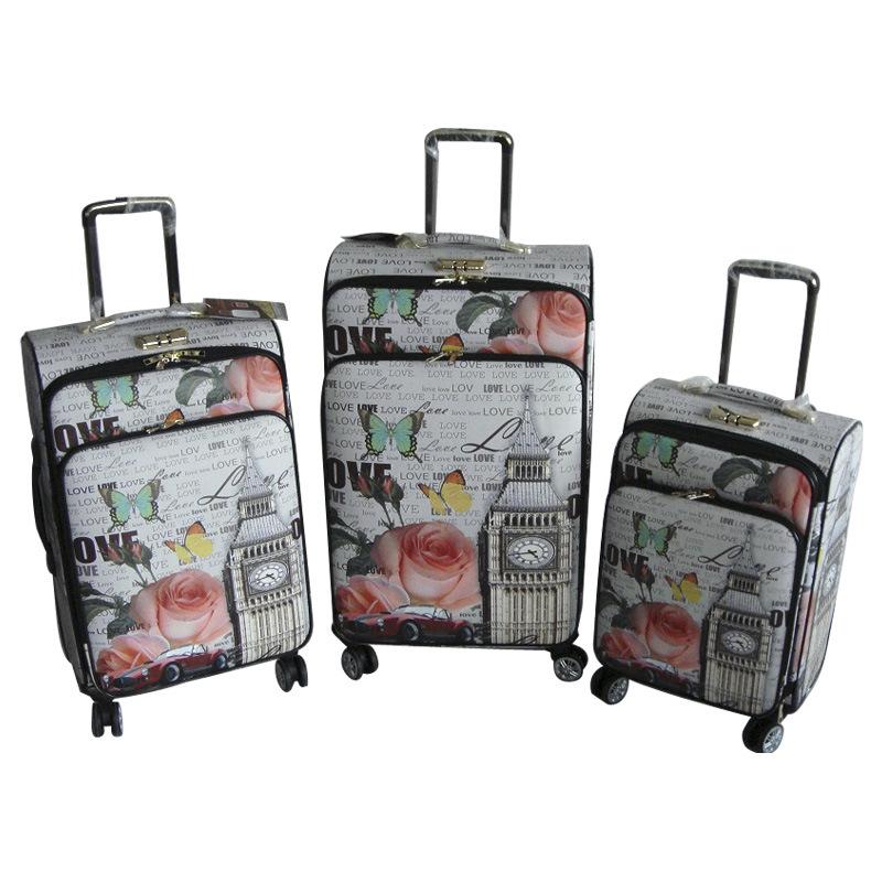PU Suitcase Travel Bag Luggage Trolley Case Jb-D003