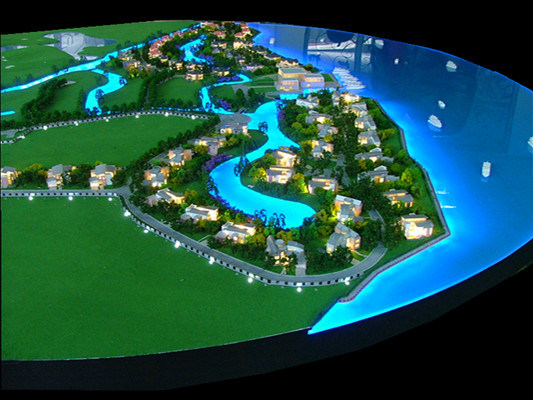 Architectural Scale Model Making, Villas Model of Dongting Lake (JW-108)