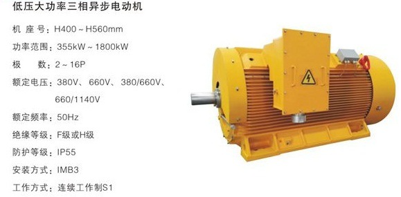 Low Voltage High Output Three-Phase Asynchronous Motor
