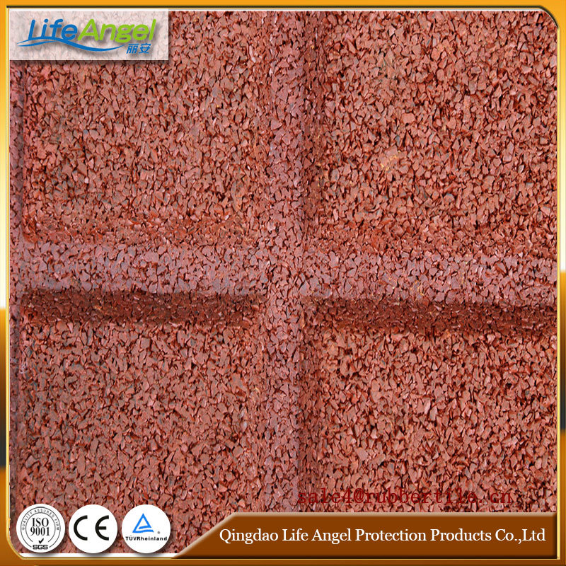 En1177 Certificated Safety Rubber Floor Tiles/Roof Deck Choise Rubber Floor