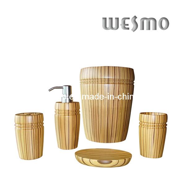 Accessoire en bois de salle de bains wbw0453a for Accessoire salle de bain bois