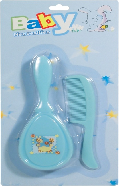 Baby Grooming Kit BPA-Free Plastic Brush and Comb for Infant Hair Care