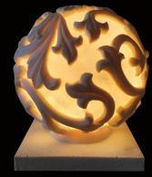 Sandstone Ball Carved Garden Statue Lamp