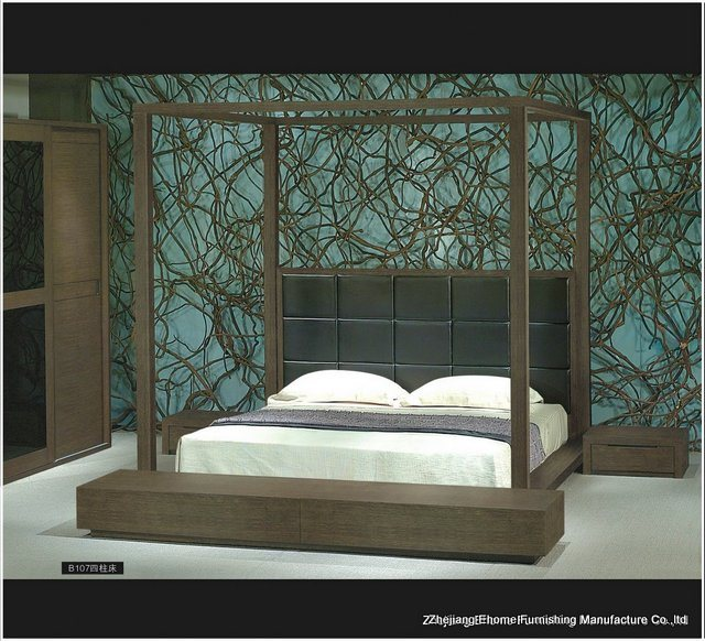 china 4 poster bedroom set mm b107 china wood bedroom
