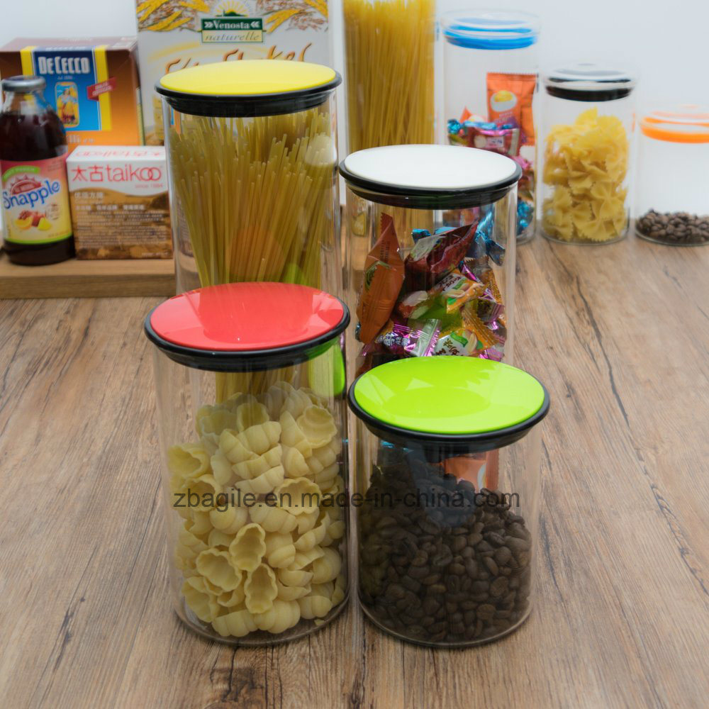 Factory Wholesale High Quality 4PCS Borosilicate Storage Food Glass Jar (100032 1-6)