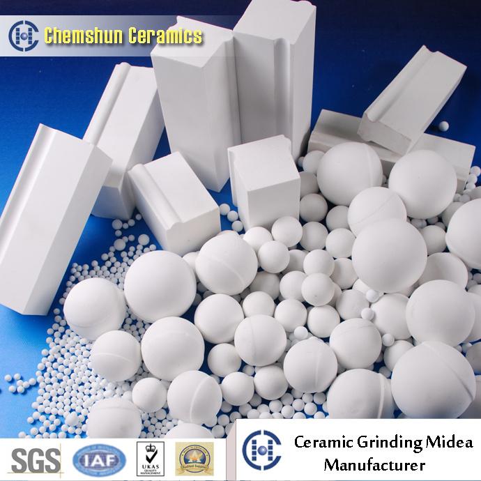 Wear Resistant High Alumina Ceramic Brick Lining From Ceramics Supplier