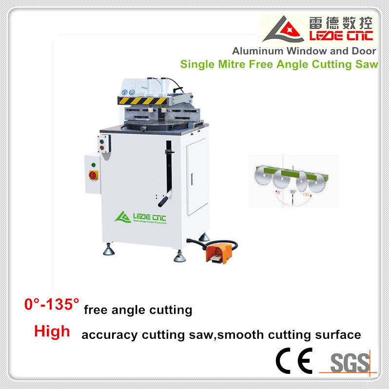 Aluminum Window Machine Window and Door Single Mitre Free Angle Cutting Saw