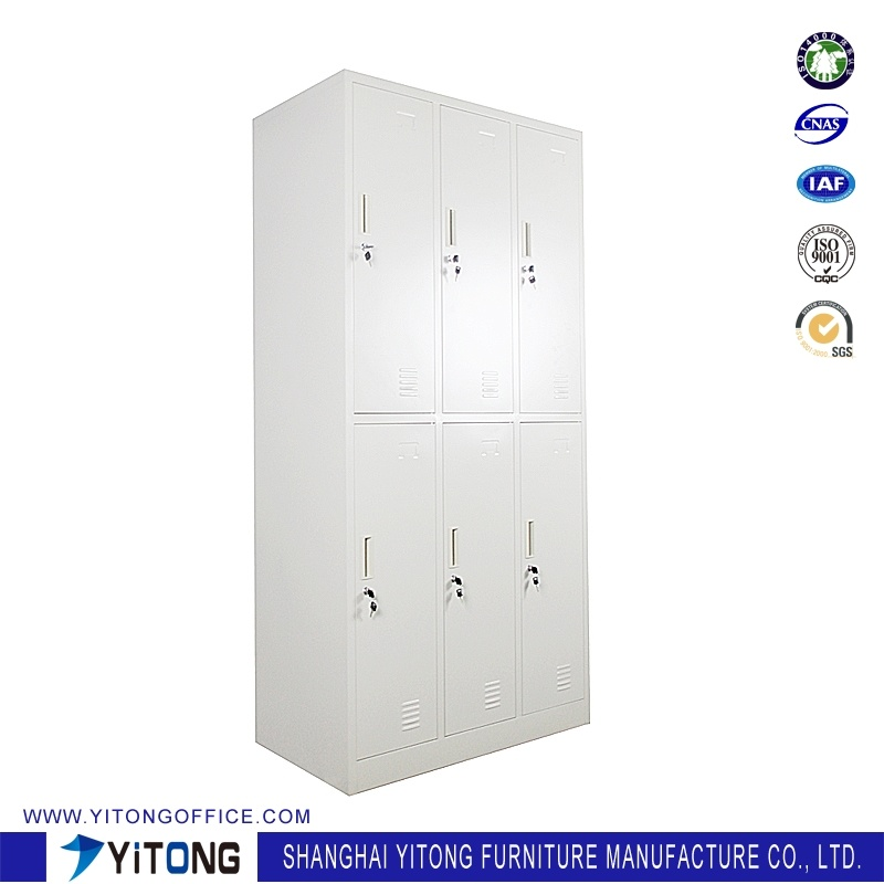 Yitong 6-Door Metal Storage Cabinet / Office Use Steel Locker