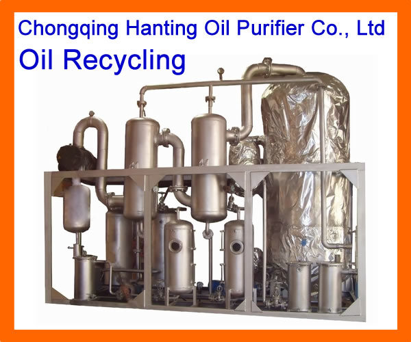 China new tech used engine oil recycling regeneration for Used motor oil recycling equipment