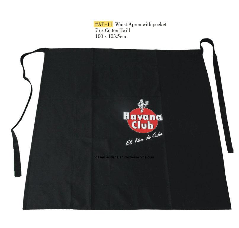 OEM Produce Custom Made Promotional Cotton Brown Customized Logo Printed Cooking Bib Apron