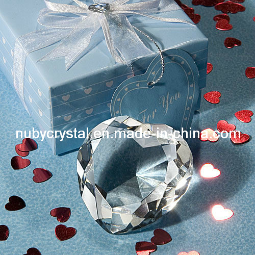 Wedding Favors Crystal Heart Diamond Paperweight