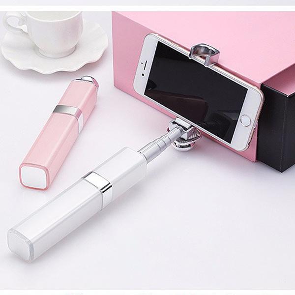 2016 Lip Gloss Selfie Monopod Portable Selfie Stick for Smartphones