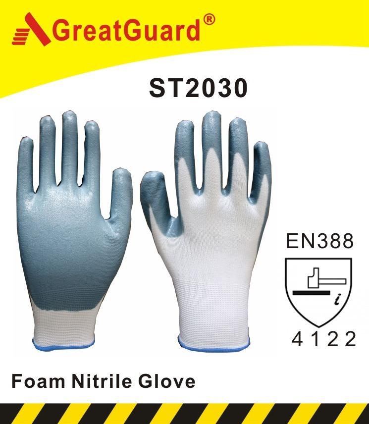 Foam Nitrile Glove (ST2030) (CE Certificate)