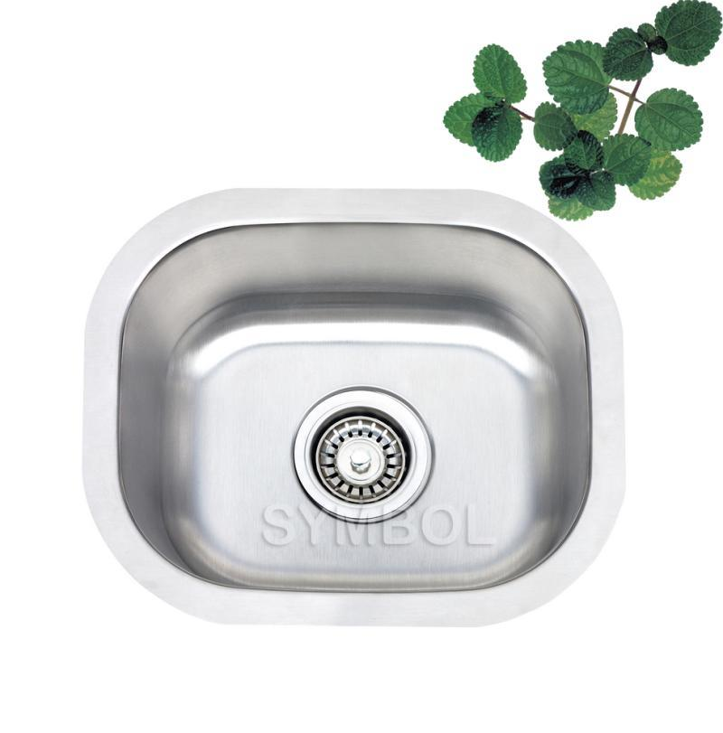 China Single Bowl Undermount Kitchen Sink SS SS1512