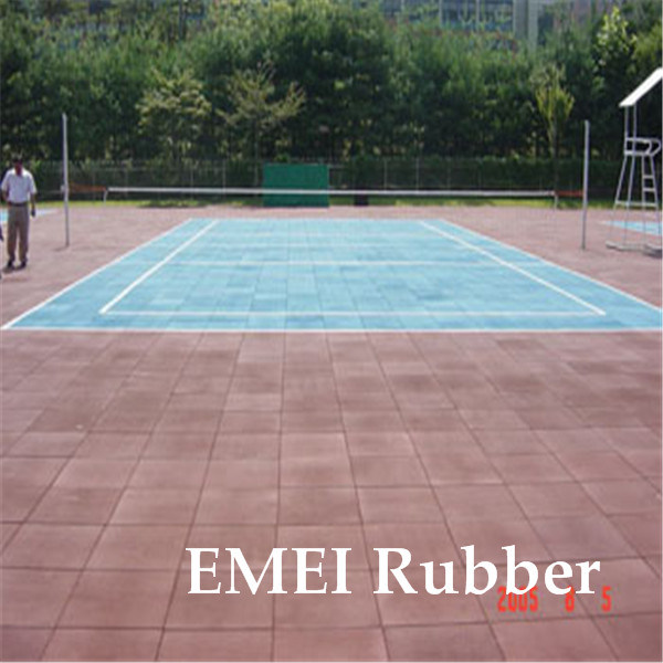 China Portable Rubber Flooring For Tennis Court Photos