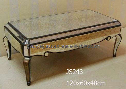 China Antique Mirror Coffee Table With Gold Frame Finished Js243 Photos Pictures Made In