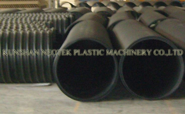 China large diameter drainage pipe production pe