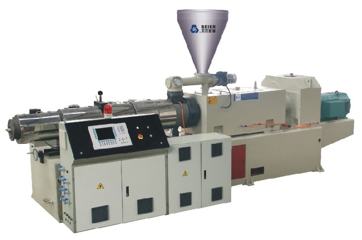 Pvc Pipe Extrusion : Conical twin screw extruder for pipe extrusion china