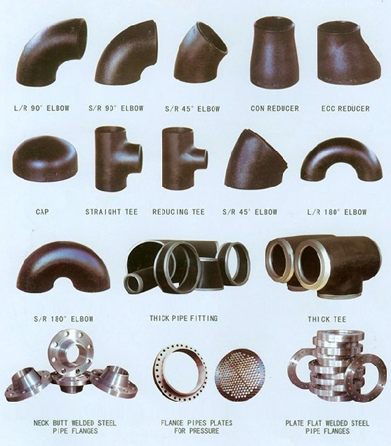 China cs carbon steel butt weld pipe fittings