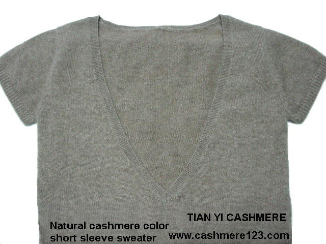 Cashmere Color Natural Sweater BV Short Sleeve
