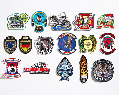 A02 Embroidered Badges with Cutting Border