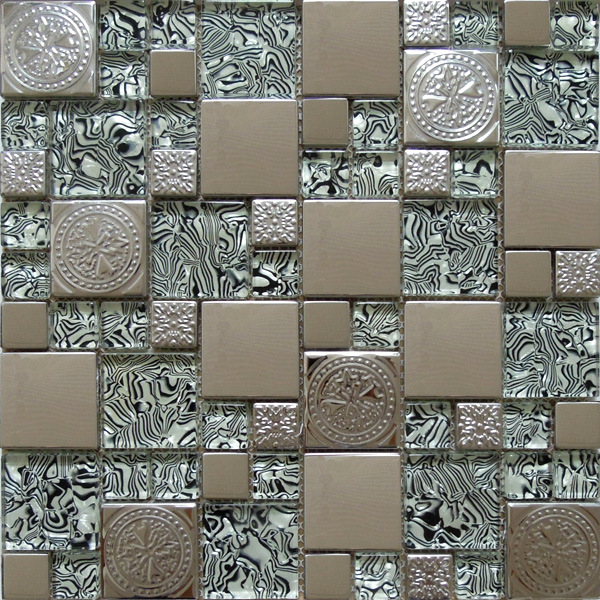 Stainless Steel Metal Mosaic Wall Tile, Glass Mosaic (SM211)