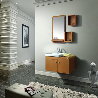 Single Sink Wall Mounted Bathroom Furnitue with Soft Closing Doors