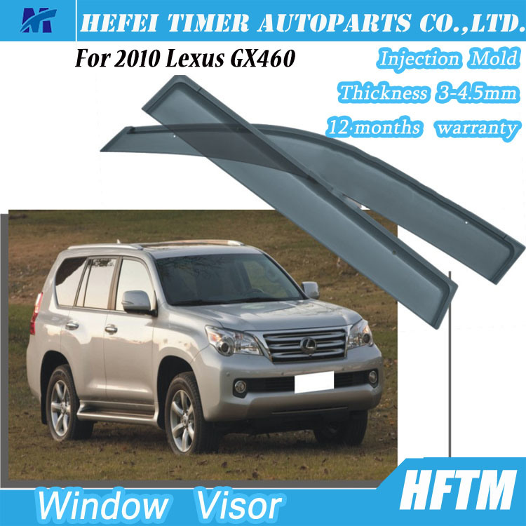 Top Quality Rain Shield Air Deflector Window Sun Visor for 2010 Lexus Gx460